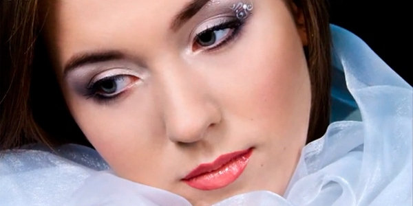 зимний макияж невесты