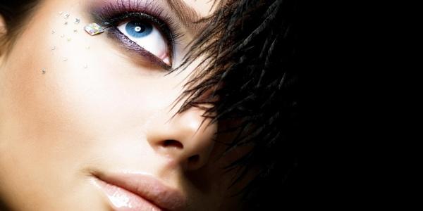 макияж со стразами
