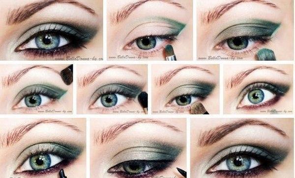 Макияж пошагово для серых глаз