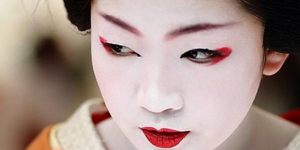 макияж гейши
