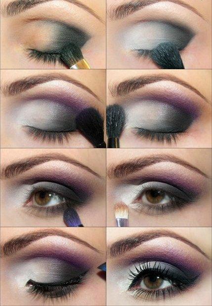 пошаговый макияж карих глаз