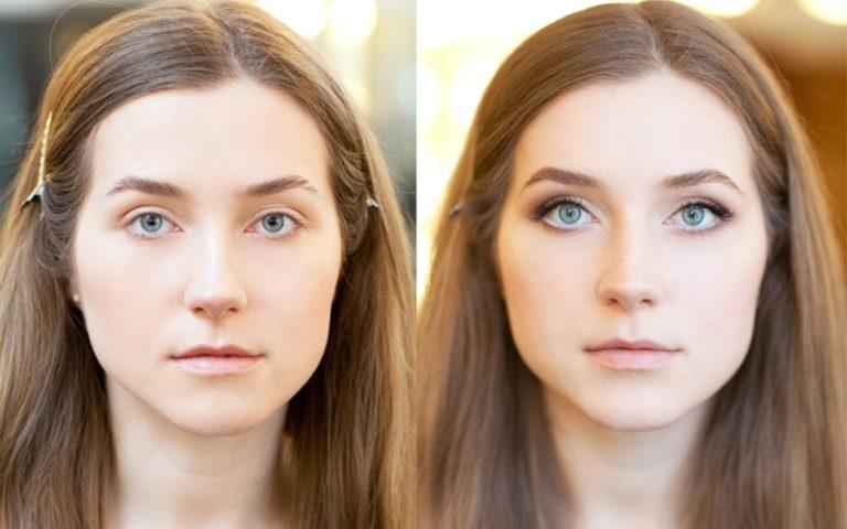 Макияж для увеличения глаз пошаговое фото с