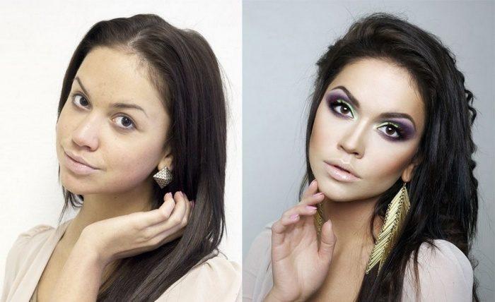 Маскировки недостатков внешности с помощью макияжа