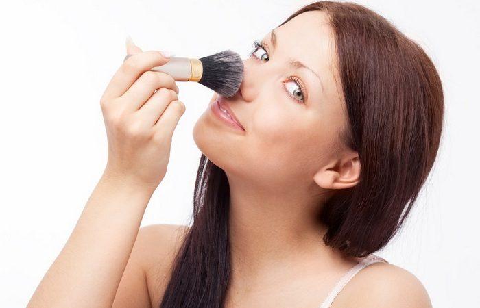 макияж кончика носа