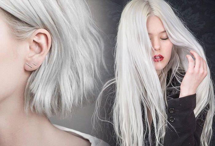 волосы - пепельный блондин