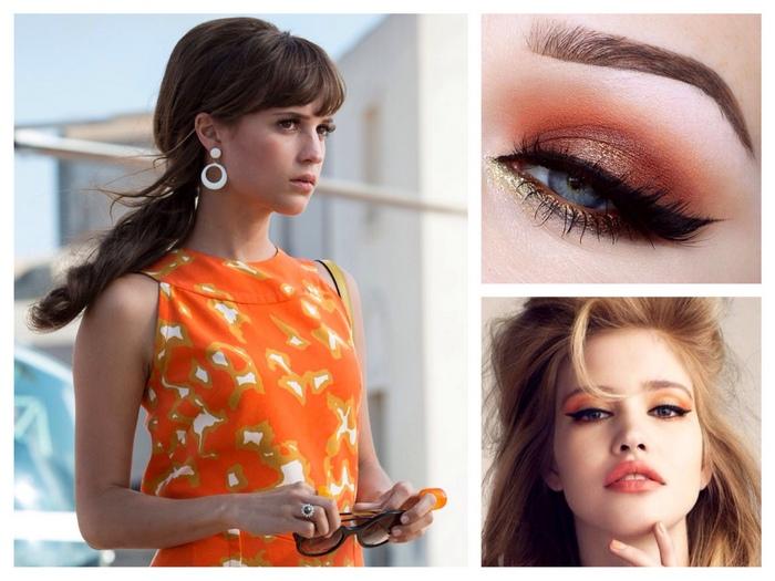 оранжевые тона в макияже